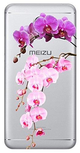 Mixroom - Cover Custodia Case In TPU Silicone Morbida Per Meizu M5s T651 Orchidea