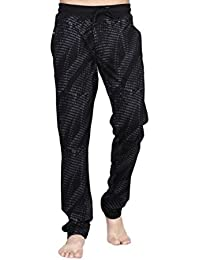 King Men's Poly Cotton Lounge Pant (1087_Black_XL)