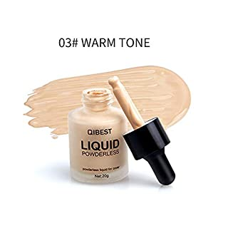 TAOtTAO QIBEST Makeup Liquid Foundation Moisturizing Waterproof Concealer BB Cream (C)
