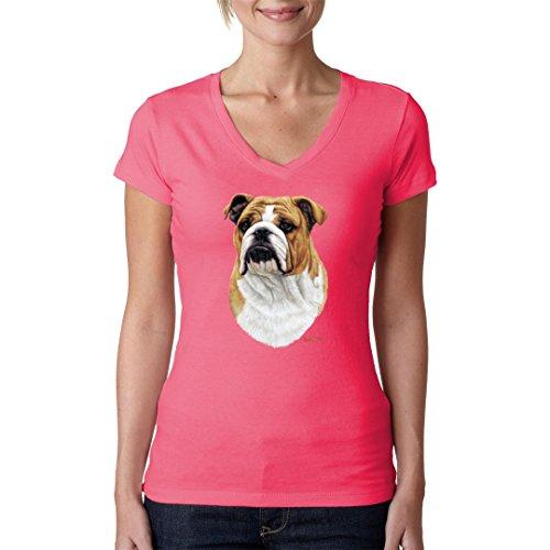 Im-Shirt - Hunde T-Shirt: Bulldogge cooles Fun Girlie Shirt - verschiedene Farben Light-Pink