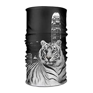 GHEDPO Stirnband Headwear Tiger City Multifunctional Headbands Outdoor Magic Scarf As Sport Headwrap,Sweatband,Neck Gaiter,Tube Mask,Face Bandana