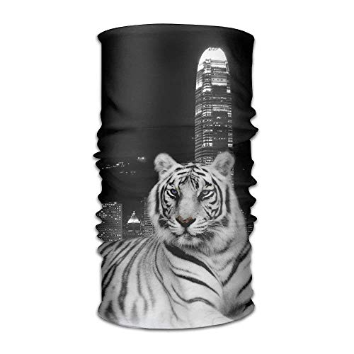 GHEDPO Stirnband Headwear Tiger City Multifunctional Headbands Outdoor Magic Scarf As Sport Headwrap,Sweatband,Neck Gaiter,Tube Mask,Face Bandana | 06468358434887
