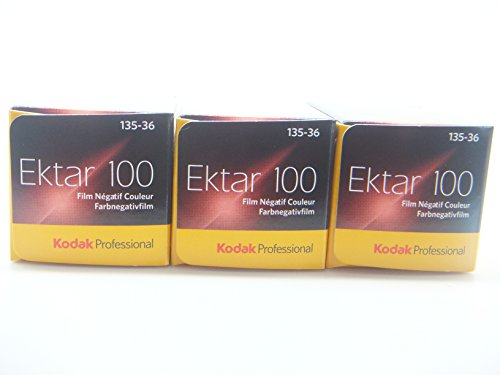 Kodak Professional Ektar 100 - 135 / 36 Kleinbildfilm (Farbe) 3er-Packung
