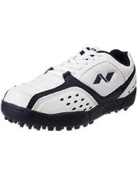 Nivia Orbit Cricket Shoes, Men's 11 UK (White/Blue)