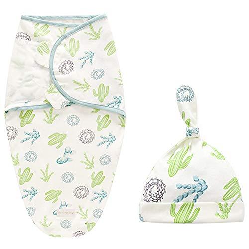 Manta de algodón para bebé recién nacido, incluye gorro y manta de...