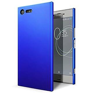 SLEO Sony Xperia XZ Premium Case - Rubberized Hard PC Back Case Cover for Sony Xperia XZ Premium - Blue