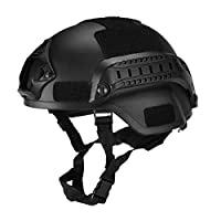 Guajave Military Tactical Helmet Airsoft Gear Paintball Head Protector with Night Vision Sport Camera Mount