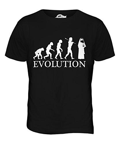 CandyMix Nonne Evolution Des Menschen Herren T Shirt Schwarz
