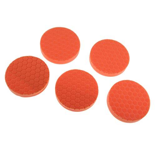 Homyl 5 Stücke/Set 5 Zoll Auto Polierschwamm, Polierauflage - Orange (Winkelschleifer 5 Zoll)