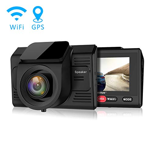 Campark Dashcam GPS WiFi Full-HD Auto Kamera 1080P, Parkmonitor,WDR Loop Recording