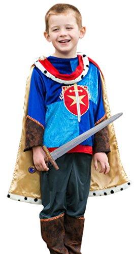 erdbeerloft - Jungen Karneval Komplett Kostüm Ritter Prinz , Mehrfarbig, Größe 134-146, 9-11 Jahre (Schneewittchen Prinz Kostüm Für Jungen)