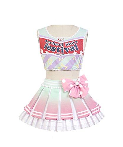 LoveLive! Cheerleaders Kotori Minami Uniform Cosplay Kostüm XL (Kotori Cosplay Kostüm)