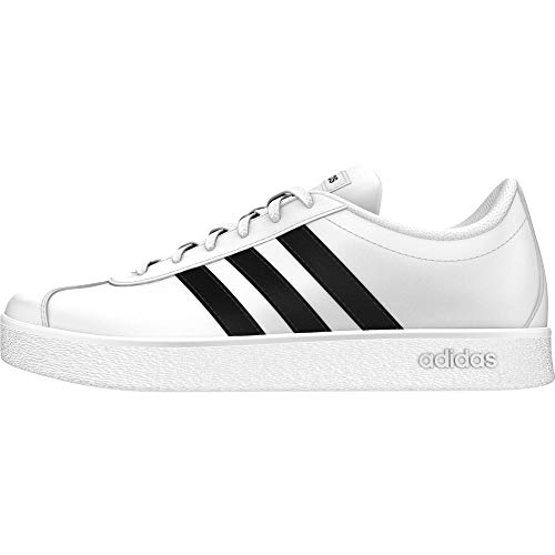 Adidas VL Court 2.0 K, Zapatillas Unisex Niños, Blanco Footwear White/Core Black/Footwear White 0...