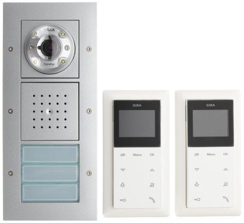 Preisvergleich Produktbild Gira 049546 Zweifamilienhaus-Paket Video Reinweiß