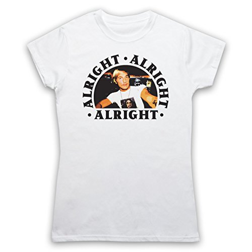 Dazed And Confused Alright Alright Alright Damen T-Shirt Weis