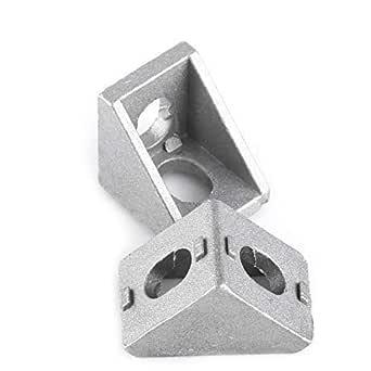 AKHILAM T Slot 2020 Aluminum Profile L-Shape Interior Inside Corner Connector Joint Bracket 2020 Series Slot 6mm for Aluminum Extrusion Profile (Qty: 4 Pcs) (Corner Bracket: 2017)