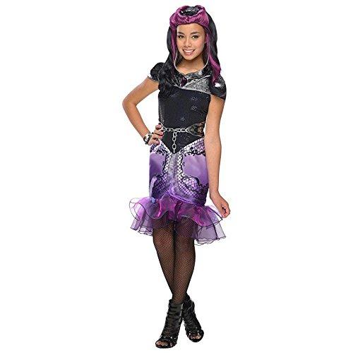 Kostüm Queen Raven - Böse Königins Tochter Raven Queen 3 Gr. L (8-10 Jahre) Fasching Karneval Kostüm Kinderkostüm Mottoparty Kleid
