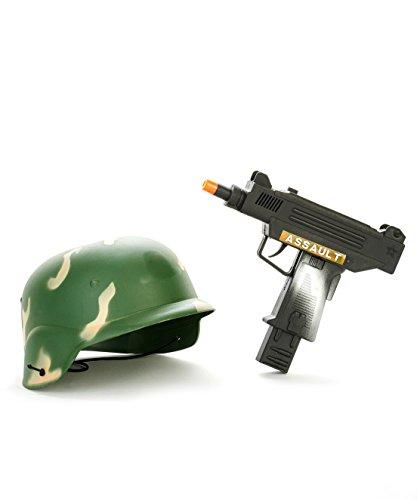 -Set mit Helm und Waffe Spielzeug für Kinder ()
