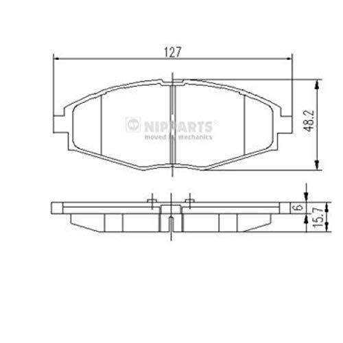 Nipparts J3600909 Pastiglie per Freni per Applicazioni As