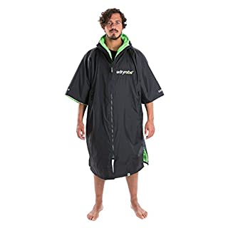 Dryrobe Advance Adult Change Robe - Short Sleeve Poncho Medium Black/Green