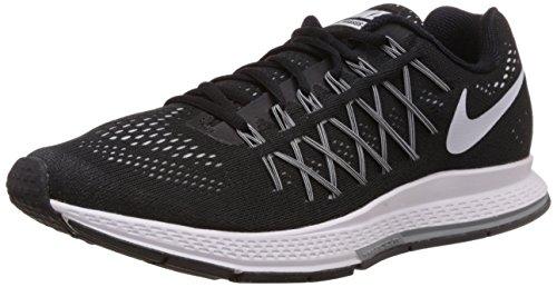 Nike Air Zoom Pegasus 32, Scarpe sportive, Uomo, Black/White-Pure Platinum, 40