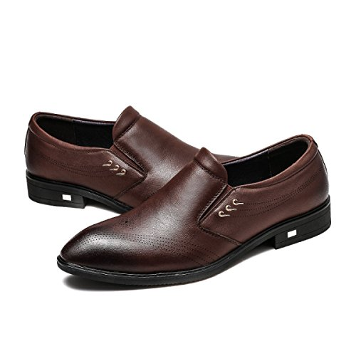 Scarpe Da Tennis Oxford In Pelle Moderna DarkBrown