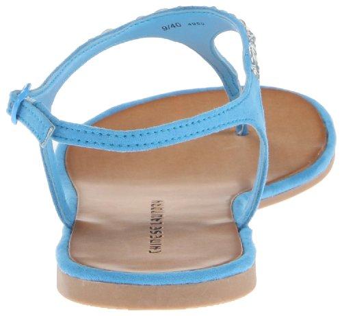 Chinese Laundry Glisten Offener Spitze Synthetik Slingback Sandale Blue Topaz