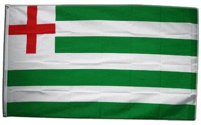 Fahne / Flagge Großbritannien green white Stripe Ensign - Haus Tudor Naval Ensign + gratis Sticker, Flaggenfritze®