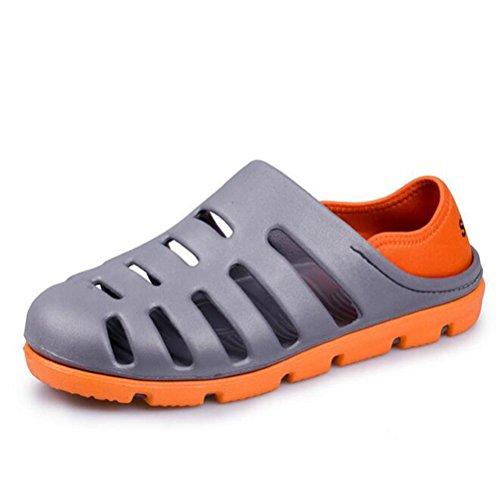 Mesh atmungsaktiv Outdoor und Schuhe Sommer Sport Sandalen Loch rutschfest Grey xvISHI
