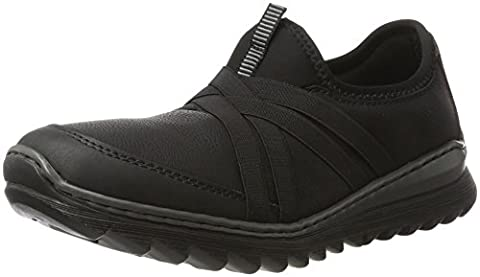 Rieker Damen M6283 Sneaker, Schwarz (Schwarz/Schwarz/Schwarz), 41 EU