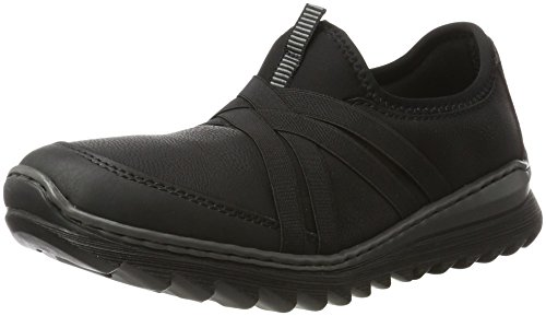 Rieker Damen M6283 Sneaker, schwarz, 42 EU