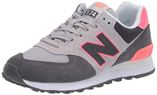 New Balance Damen WL574 B Sneaker, Schwarz (Black/Pink SOP), 39 EU