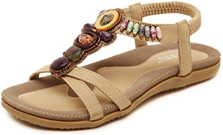 Damen und Mädchen Sommer Flip-Flops Sandalen Wohnungen Flip lässig Boho Schuhe Flops