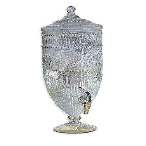 Loberon Getränkespender Mercure, Glas/Kunststoff, H/Ø ca. 36/20 cm, klar
