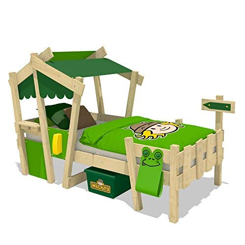 Abenteuer Bett (WICKEY Kinderbett 'CrAzY Candy' - Einzelbett in verschiedenen Farbkombinationen - 90x200 cm)