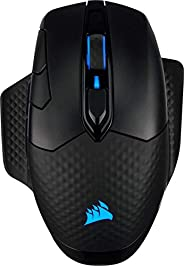 Corsair Dark Core RGB PRO SE, Mouse Gaming Wireless/Con Filo e Ricarica Wireless Qi, Sensore Ottico da 18.000