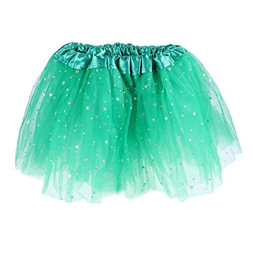 BESTOYARD Tutu Rock St. Patrick's Day Tutu elastischer 3-Lagen Rock für Kinder Mädchen Free Size (Grün)