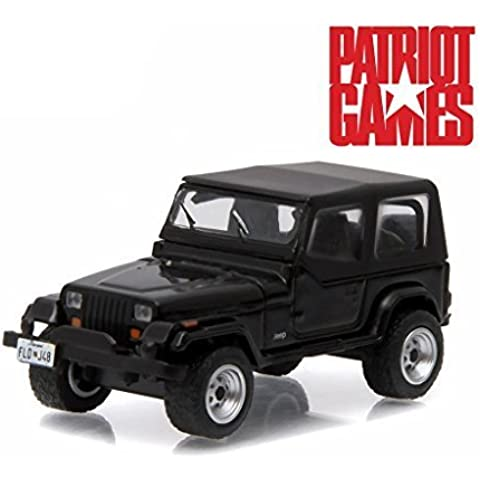 1987 Jeep Wrangler YJ Black Patriot Games Movie (1992) 1/64 by Greenlight 44730 B by Jeep