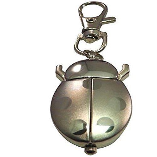 Plaque de porte personnalisée Argent Coccinelle Porte-clés avec montre, étui en velours-Noir-Réf L6sk