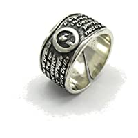 Silber Ring Band Ave Maria 925 E