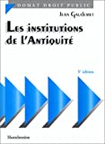 Les institutions de l'Antiquité, 5e édition