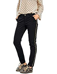 BC Best Connections Trendige Damen Casual Flared Jeans Bootcut Jeans Trend Hose Creme