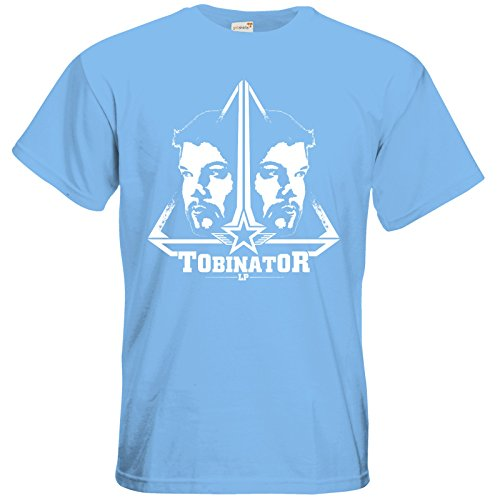 getshirts - Tobinator Official Merchandise - T-Shirt - StarBadge Sky Blue