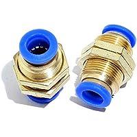 Bulkhead Union SENRISE - Conector neumático de latón recto para tubo de aire, dorado