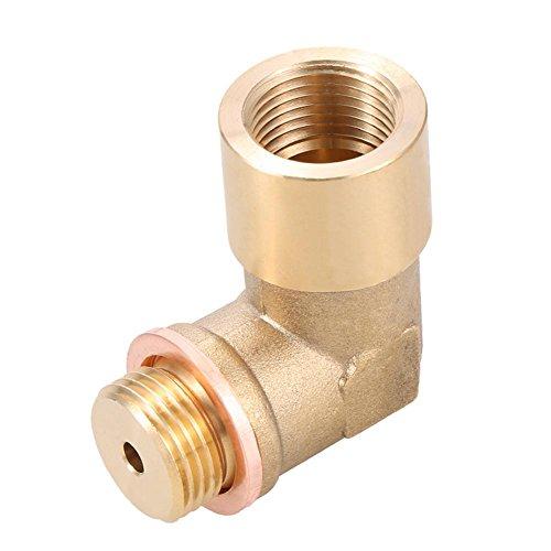 asiproper 90Grad Verlängerung Spacer O2Sauerstoff Sensor abgewinkelt Messing Verlängerung M18x 1,5 -
