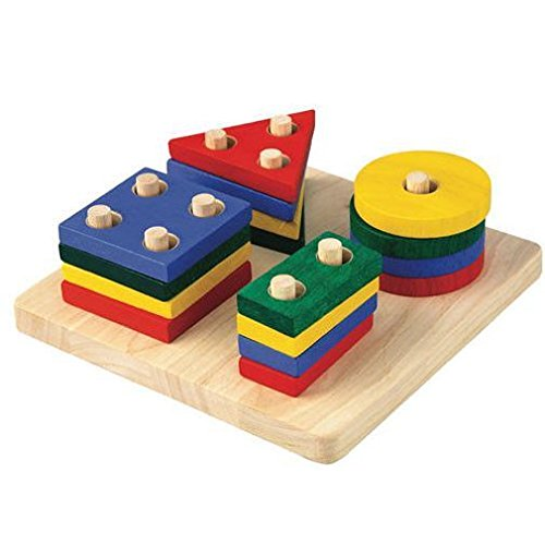 Plan Toys 2403 - Wooden geometric figures