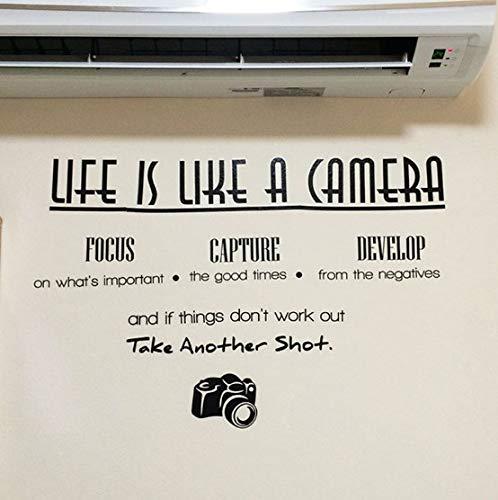 Wandaufkleber das leben ist wie eine kamera focus capture entwickeln wandaufkleber wohnzimmer schlafzimmer dekoration diy pvc wandtattoo 35 * 68 cm - Das Kamera Ist Leben Eine Wie
