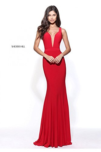 sherri-hill-red-51096-illusion-rucken-v-neck-kleid-uk-12-us-8