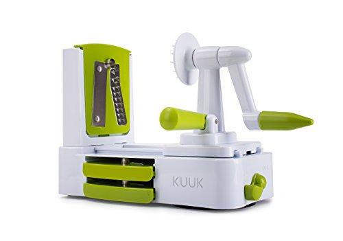 Kuuk Tagliaverdure a Spirale di seconda Generazione in plastica Bianca, 24x 12x 19cm