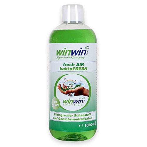 winwin clean Systemische Reinigung winwinCLEAN baktoFRESH 1000ml - BIOLOGISCHER Schadstoff- und Geruchsneutralisator